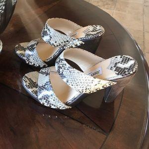 Jimmy Choo faux snakeskin sandal